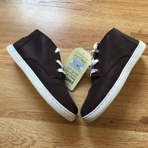 Toms Paseo Mid Sneakers Brown Size 2 Youth